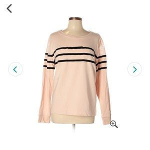 Karl Lagerfeld Paris Pink black striped sweater
